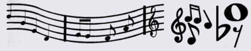 Pinceles con motivos musicales