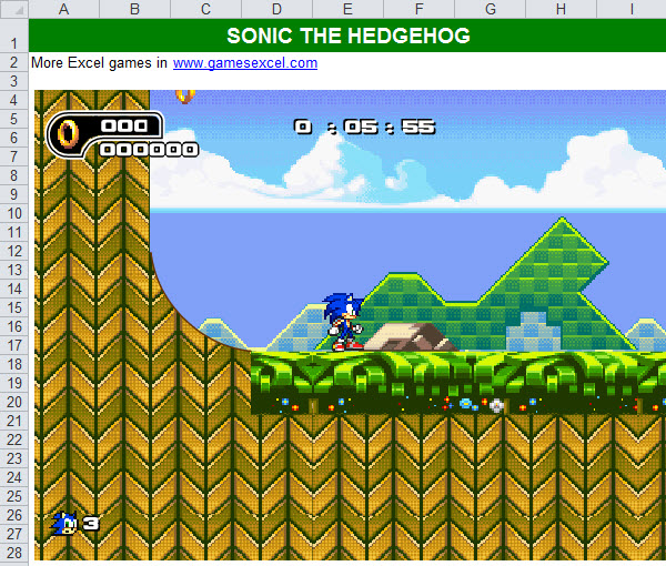 games excel sonic